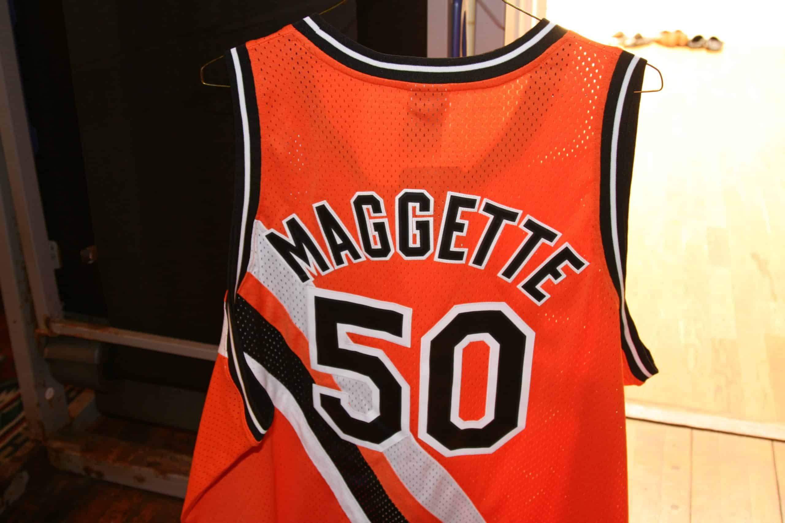 new concept f46f1 f873d COREY MAGGETTE GAME WORN THROWBACK NBA JERSEY, ACE RARE ...