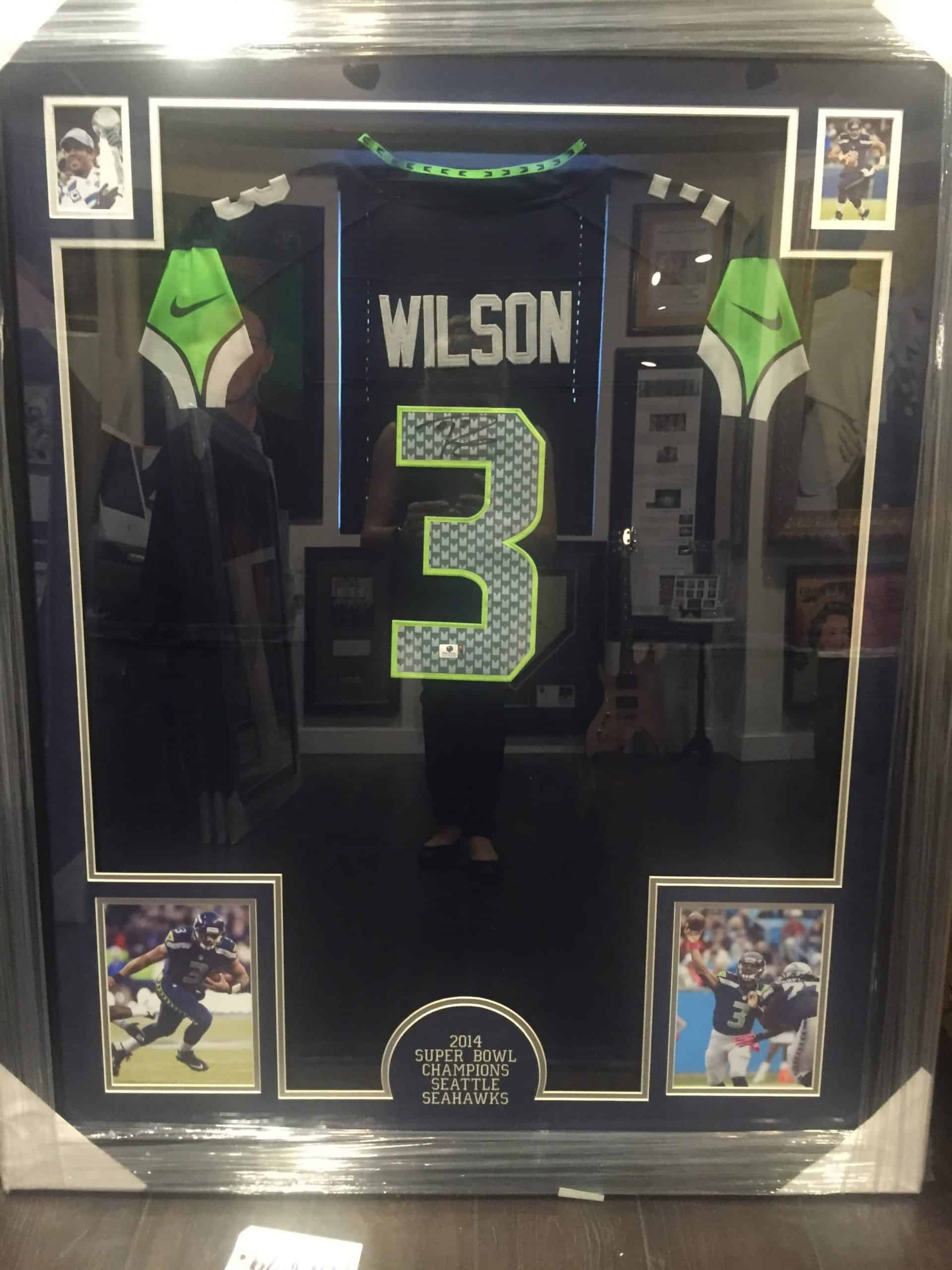 online store 9cc03 853f4 RUSSELL WILSON AUTHENTIC AUTOGRAPHED NFL JERSEY FRAMED PIECE ...