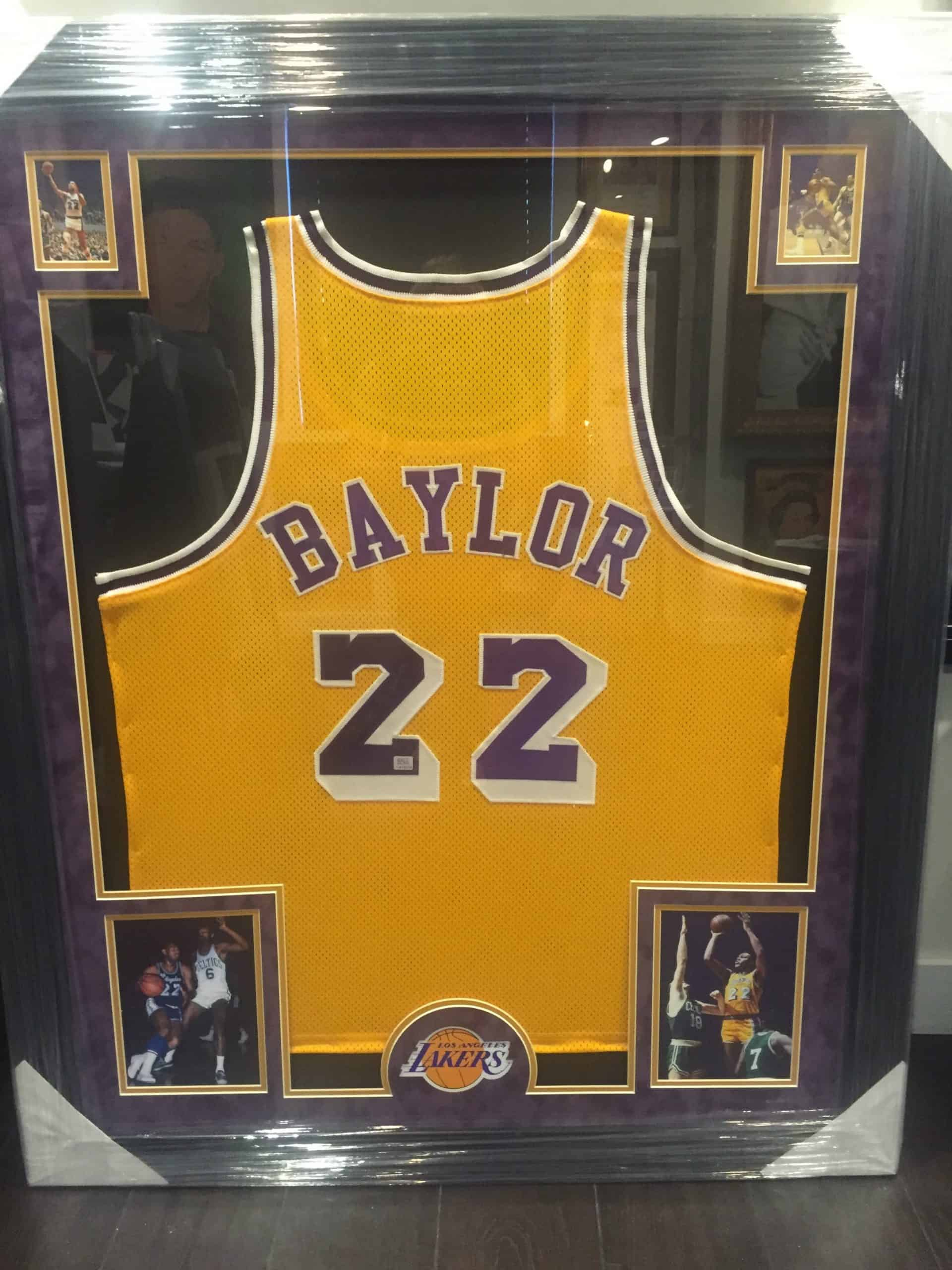 b00b3fa94778 ELGIN BAYLOR AUTHENTIC AUTOGRAPHED NBA JERSEY FRAMED PIECE