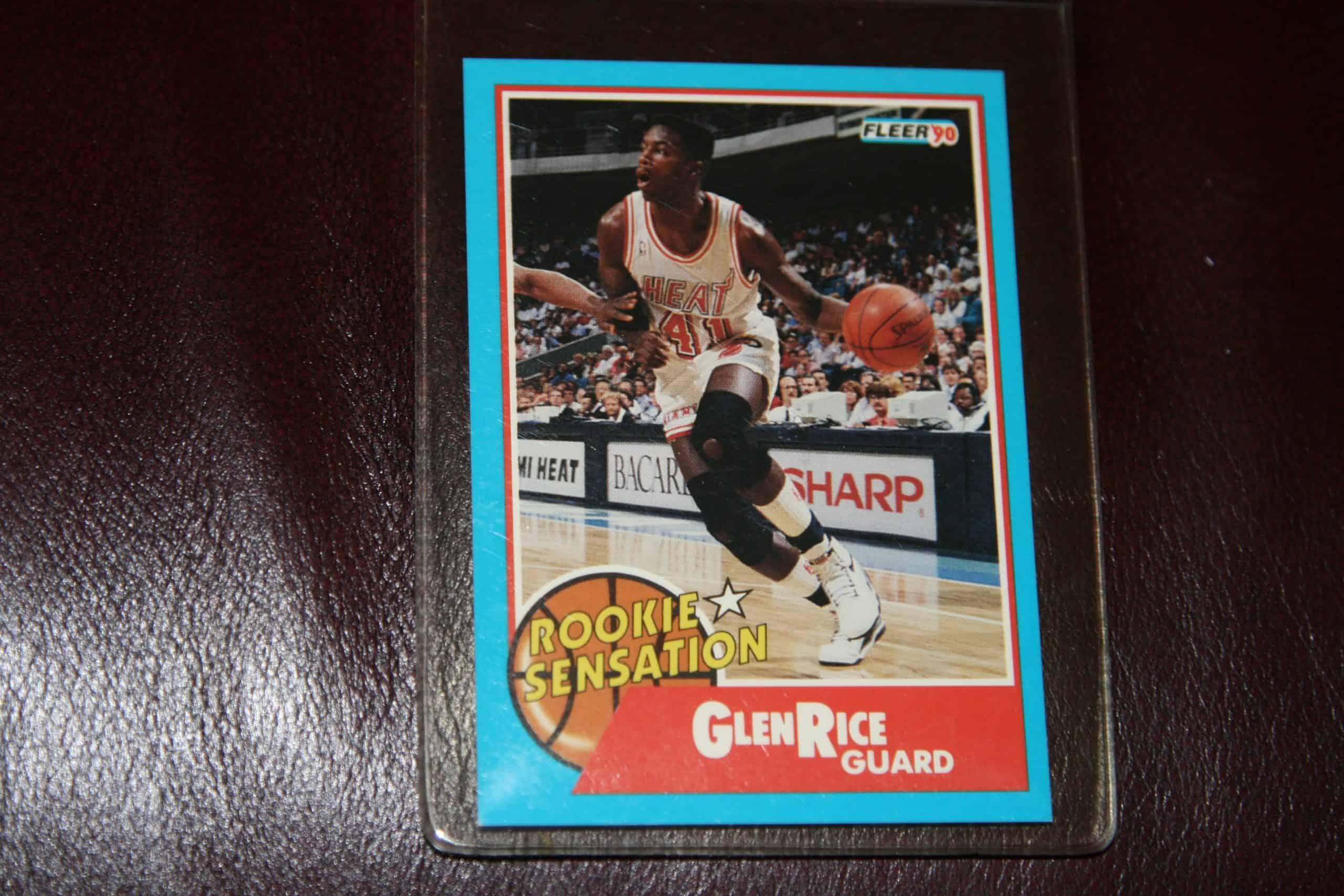 Glen Rice Fleer Rookie Card Ace Rare Collectibles