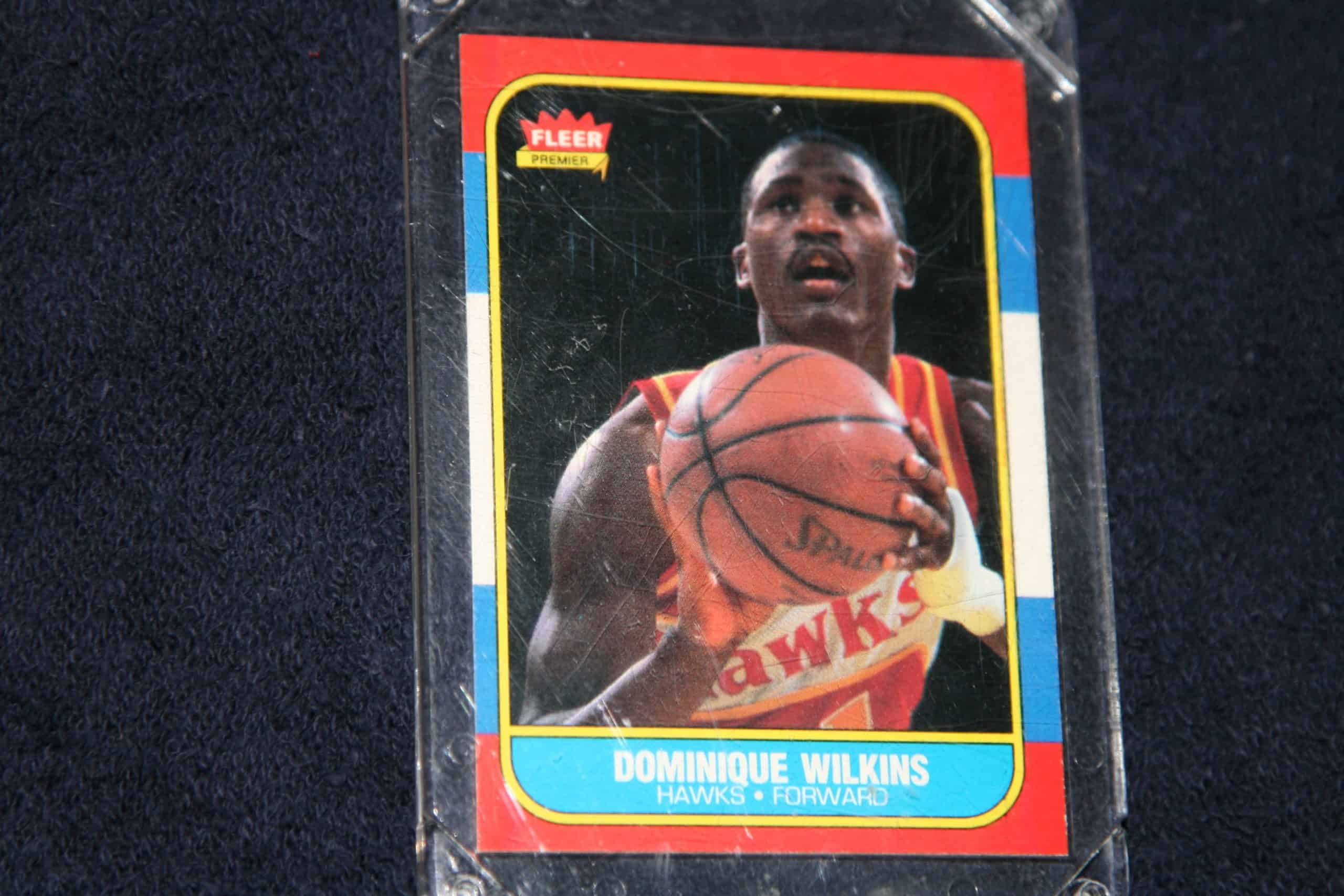 DOMINIQUE WILKINS FLEER ROOKIE CARD ACE RARE COLLECTIBLES
