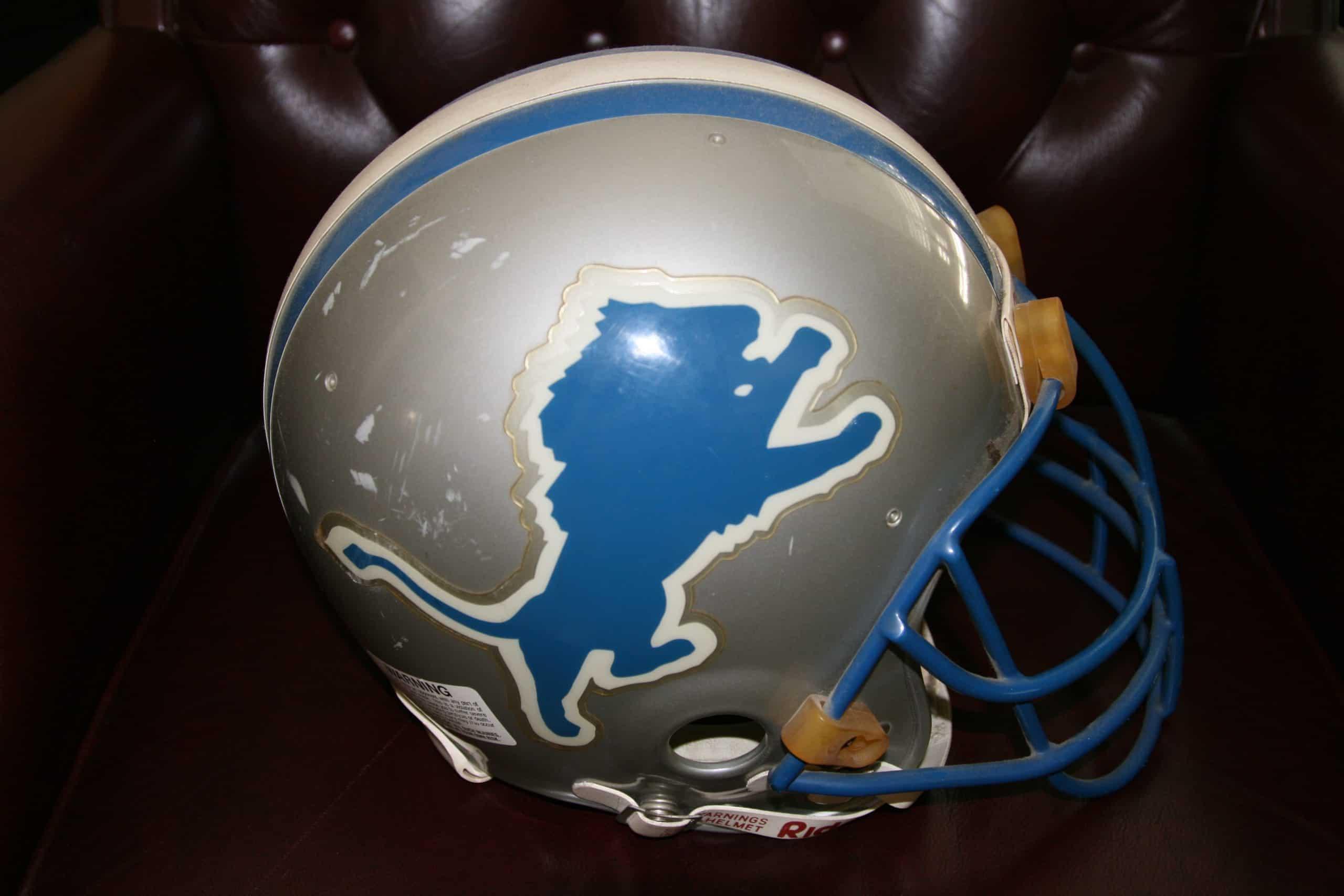 Detroit Lions Helmet Amp Logo 6 X 12 Repositionable Decals