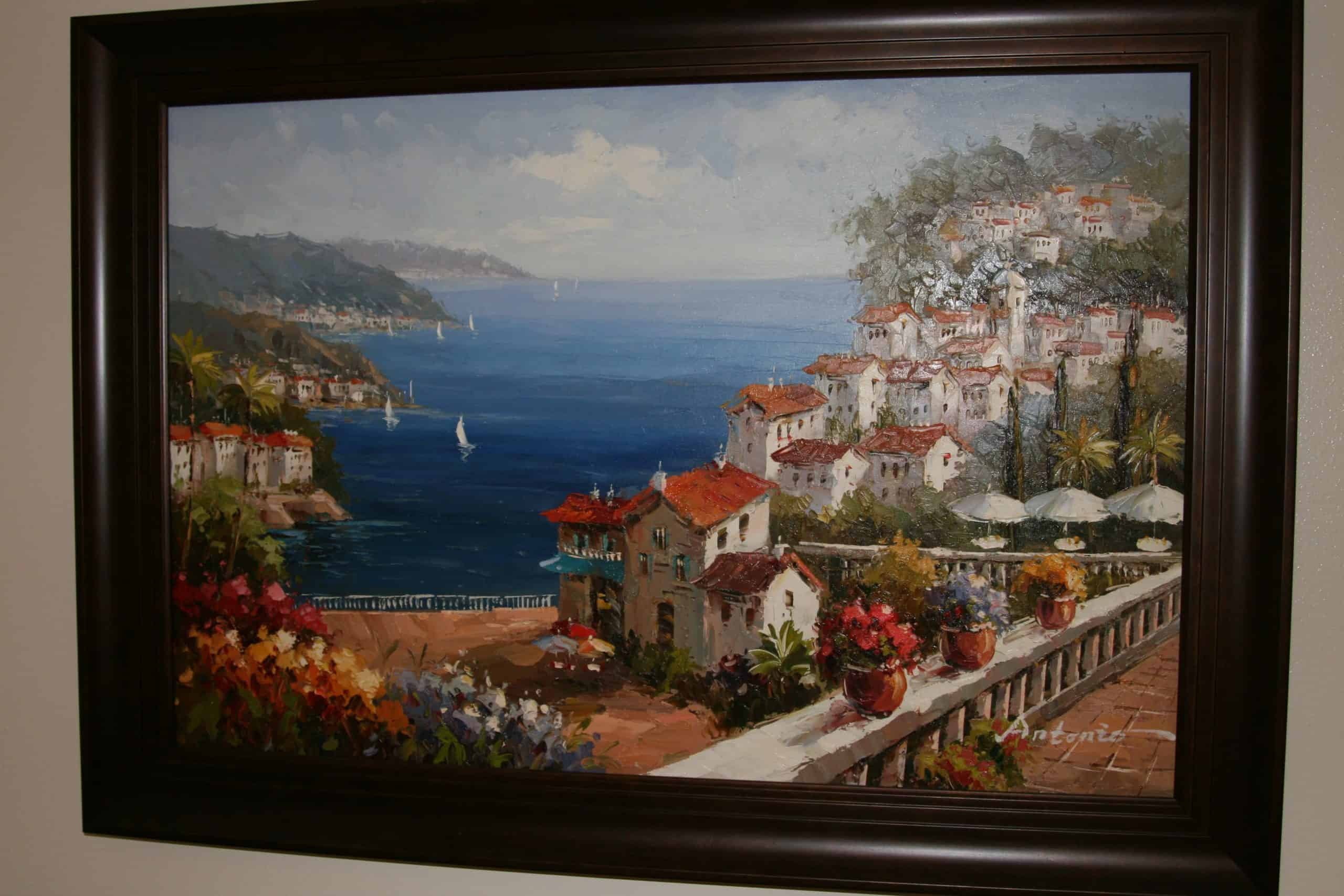 Costa Del Sol Antonio Oil Painting Framed Ace Rare