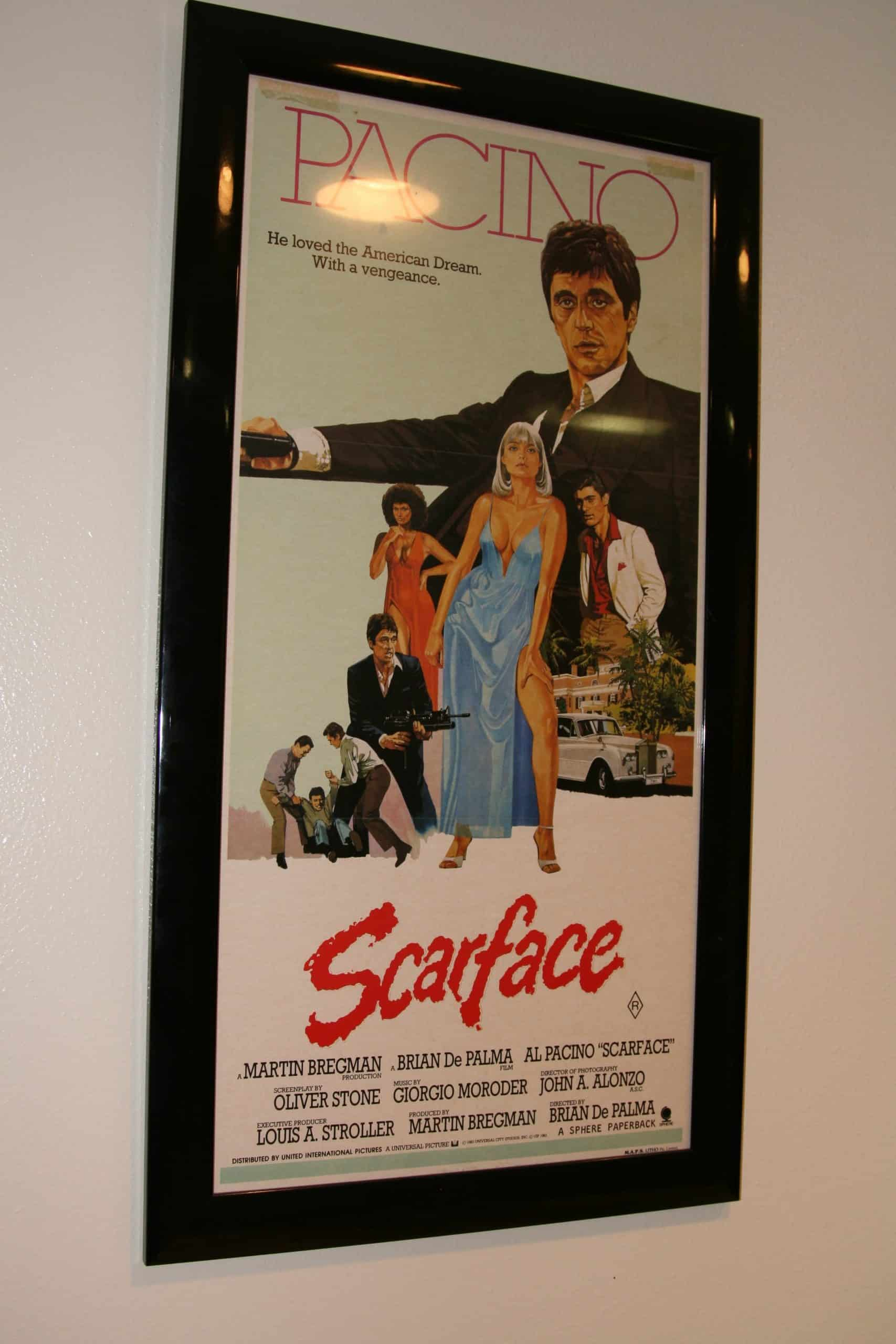 SCARFACE MOVIE INDUSTRY LIMITED POSTER FRAMED, ACE RARE COLLECTIBLES