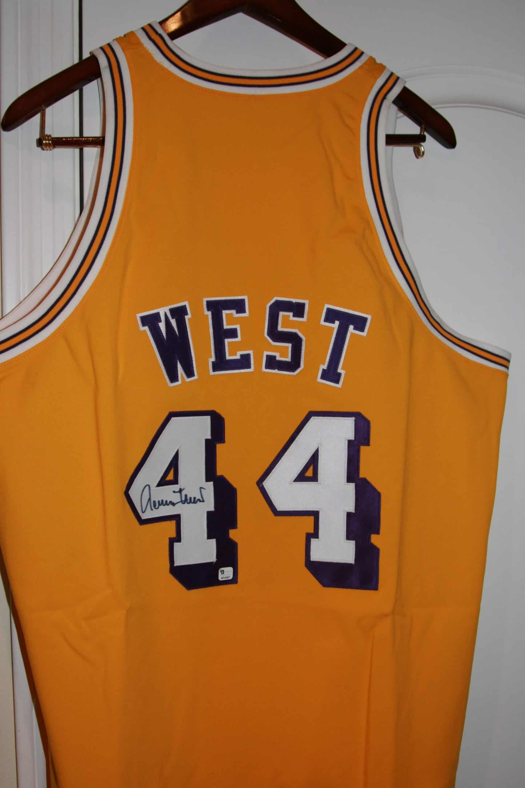 buy online 91d1b 1fb12 JERRY WEST Autographed NBA Jersey, ACE RARE COLLECTIBLES