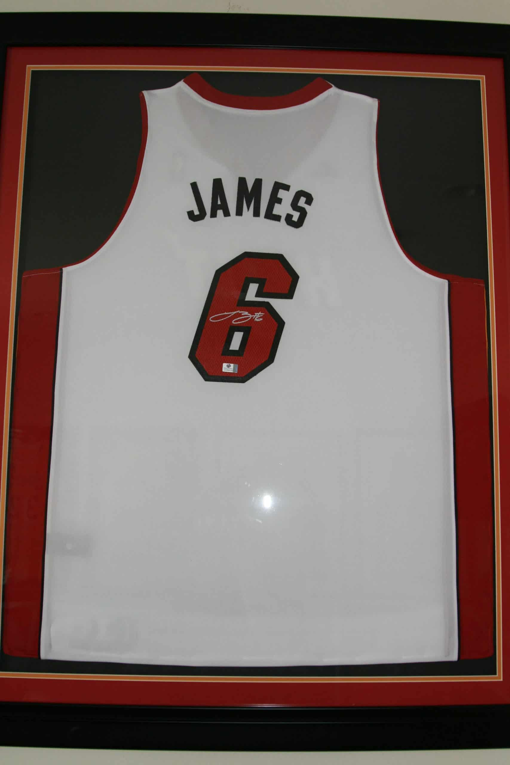 new style 4406a 6263a 2013 LEBRON JAMES AUTOGRAPHED HOME ORIGINAL NBA JERSEY, ACE ...