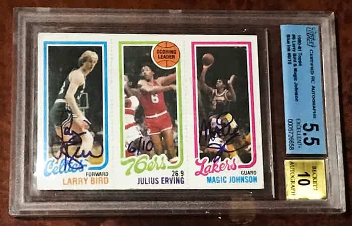 Magic Johnson Larry Bird Rookie Autograph Ace Rare Collectibles